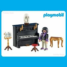 * Playmobil 6527 * Victorian Mansion / School Music Room Piano & Pianist * NEW *