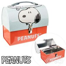 New Peanuts Snoopy That's Fantastic Domed Tin Tote Lunch Box School Official