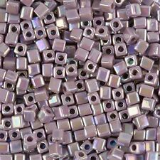Miyuki Rainbow Opaque Amethyst 4mm Cube Glass Seed Beads 20g Tube (H78/2)