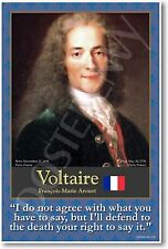 Voltaire - French Philosopher Social Studies History Classroom NEW School POSTER