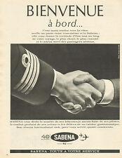 Publicité Advertising 1963  SABENA