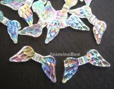 9*20mm AB Clear Angel Wings Acrylic Beads Findings 50