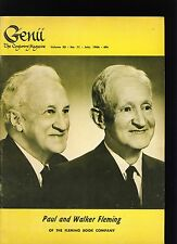 PAUL, WALKER FLEMING GENII MAGICIANS MAGAZINE JUL1966-table of contents scanned