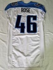 #46 Rose Authentic Game Issued Tennessee Titans Jersey