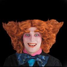 Perruque rousse ébouriffée façon fou Le Chapelier deguisement costume halloween