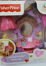 New Fisher Price Loving Family Dollhouse Doll Dress Up Vanity Princess Crown FRE