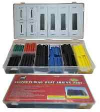HEAT SHRINK TUBING ASSORTMENT -120 Color Coded Electrical Wire Wrap Tubes Sleeve