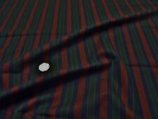 POLY/WOOL STRIPE SUITING -NAVY/WINE/GREEN -SUITING FABRIC-FREE P&P
