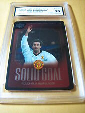 RUUD VAN NISTELROOY MANCHESTER 2003 UD STRIKE FORCE SOLID GOAL #SG2 GRADED 10
