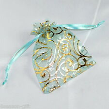 25pcs 7cmx9cm Skyblue Organza Jewelry Gift Pouch Bags Wedding X-mas Favor