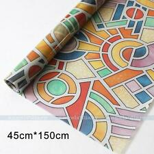 Abstract Privacy Stained Glass Window Film Static Cling Film Decor 45cm*1.5M