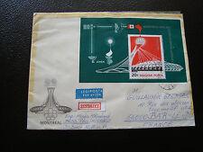 HONGRIE - enveloppe 1976 (bloc n° 125) (cy86) hungary