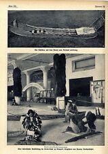 Trophäen von Pearys Nordpolfahrt im Arctic-Club Historische Aufnahmen von 1910