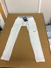 NIKE PRO COMBAT 449822 DRI FIT COMPRESSION TIGHT PANT WHITE MSRP $35.00 XXL 2XL