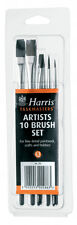 10 HARRIS ARTISTS PAINT BRUSHES SET TASKMASTER FOR FINE PAINTWORK CRAFT HOBBIES