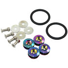 Neo Chrome Quick Release Car Bumper Fender Trunk Hatch Lid Aluminum Fastener Kit