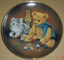 Franklin Mint Collectors Plate Teddy Bear WINNING BY A WHISKER