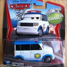 Disney PIXAR Cars 2 OFFICER MURAKARMI Tokyo Airport Security CHASE diecast #32