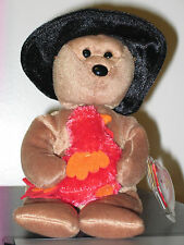 Ty Beanie Baby ~ PLYMOUTH the Bear ~ MINT with MINT TAGS ~ RETIRED