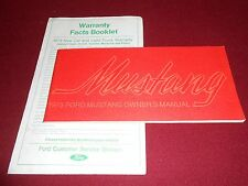 1973 FORD MUSTANG OWNER'S MANUAL plus WARRANTY FACTS BOOKLET