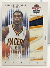 Lance Stephenson 2011-12 Panini Past & Present PRIME Jumbo 3 color Patch #'d/25