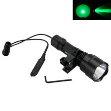 5000LM Cree Q5 GREEN LED Tactical Flashlight Torch Rifle 25mm Mount 18650 Light