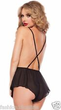 Fashion18 Solid Babydoll Jumper One set Black