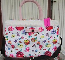 Betsey Johnson Floral Weekender Shoe Lovers Sleeve Travel Bag Weekender NWT