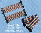 Each for 40pcs Dupont Wire Color Jumper Cable 20cm 2.54mm 1P-1P Female Male d