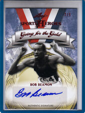 2013 LEAF SPORTS HEROES GOING FOR THE GOLD BOB BEAMON #2/5 AUTOGRAPH AUTO