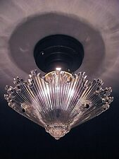 SPECTACULAR! Antique Snowflake Starburst Ceiling Light Fixture - RESTORED!