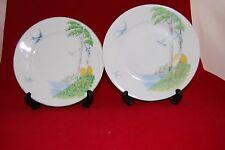 Made in czeco-slovaquie porcelaine deux petites assiettes hirondelles et arbres