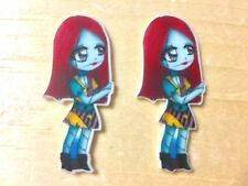 Disney Sally Tod-Jack Skellington- Planar Resin-Cabochon-Plastic-Hair Bow Center