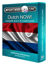 LEARN + SPEAK DUTCH NOW! COMPLETE LEVEL 1 & 2 AUDIO LANGUAGE COURSE MP3 CD GIFT