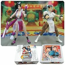 "CAPCOM v SNK STREET FIGHTER CHUN-LI vs MAI 6"" video game figures, ps3, x box"