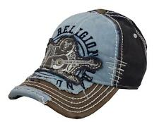 NEW TRUE RELIGION GRAPHIC UNISEX DISTRESSED BUDDHA TRUCKER HAT CAP NAVY TR1101