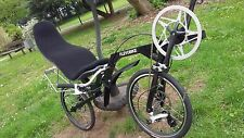 Recumbent Folding Bike Bicycle Flevobike Disk Brake Ventisitz Comfort Seatmat !