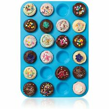 Silicone No Stick Muffin Pan for Baking 24 Cup Chocolate Jelly Candy Baking Mold