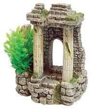 Roma antigua ruina columnas y plantas Decoración Ornamento para Acuario Peces Tanque