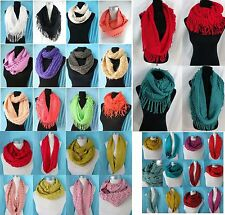 *US SELLER* lot of 10 winter fall double loop knit infinity scarf infinity