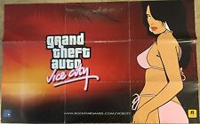 XBOX PS2 * GRAND THEFT AUTO VICE CITY MAP E POSTER-Mappa solo-GTA VICE CITY