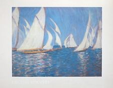 English Summer print - Philip Steer print -56x44cm, yacht racing on the solent