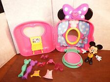 Disney Minnie Mouse suitcase boutique lights musical talking figure toy playset