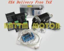 【US Stock】 4 axis Nema23 stepper motor 425oz-in dual shaft+CW5045 Driver CNC Kit