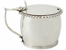 Irish Sterling Silver Mustard Pot - Antique William IV