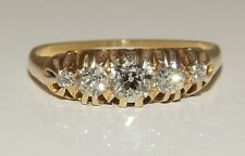 FINE EARLY 20TH CENTURY 18CT YELLOW GOLD  0.5CT OLD CUT DIAMOND ETERNITY RING