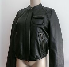 bnwt CHLOE see by BLACK LEATHER short BOMBER biker JACKET 44 NEVER WORN