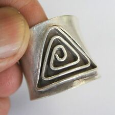 Charms Ring Thai Karen Hill Tribe Pure Silver Size US=7 UK=N .Adjustable.