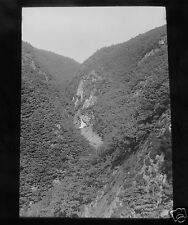 Glass Magic lantern Slide RHEIDOL GORGE NORTH WALES  C1913 WALES