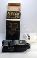 New Sunpak 933 Dedicated/Automatic Flash for Pentax New In Box w Manual